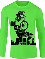 cheap -21Grams Men's Long Sleeve Downhill Jersey Spandex Yellow Red Blue Bike Jersey Top Mountain Bike MTB Road Bike Cycling UV Resistant Quick Dry Sports Clothing Apparel / Athletic