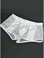 cheap -Men's 1 Piece Basic Boxers Underwear - Normal Low Waist White Black One-Size