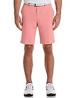 cheap -tour men's flat front hybrid short golf, calypso coral heather, 34