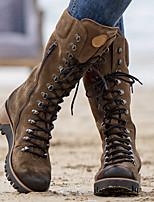 cheap -plus size women wearable suede side zipper mid calf combat boots
