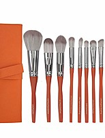 cheap -makeup brush set,makeup brushes,cosmetics brushes set, makeup eyeshadow beauty powder blush brush with brush bag,synthetic foundation powder concealers eye shadows makeup 10 pcs brush set (orange)