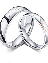 cheap -couple's ring 2pcs silver alloy daily jewelry cute