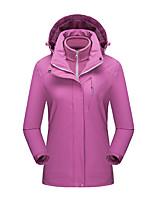 cheap -Women's Hiking 3-in-1 Jackets Ski Jacket Hiking Fleece Jacket Winter Outdoor Thermal Warm Waterproof Windproof Fleece Lining Outerwear Windbreaker Trench Coat Skiing Fishing Climbing Female black