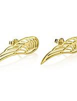 cheap -angel wing stud earrings - angel wing earrings in gold plated