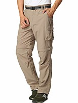 cheap -men's outdoor pants hiking pants zip off pants detachable legs shorts summer with belt light, quick-drying breathable functional pants trekking pants classic cargo pants style