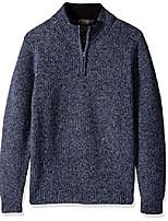 cheap -men's shetland half-zip sweater, twilight blue heather-61111, medium