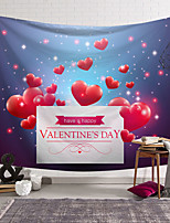 cheap -Valentine's Day Wall Tapestry Art Decor Blanket Curtain Hanging Home Bedroom Living Room Decoration Love Heart