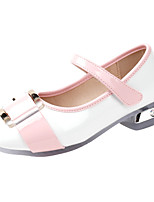 cheap -Girls' Heels Flower Girl Shoes Princess Shoes Patent Leather Little Kids(4-7ys) Big Kids(7years +) Daily Party & Evening Walking Shoes White Black Spring Summer / Color Block