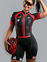 cheap -Men's Women's Short Sleeve Cycling Jersey with Shorts Triathlon Tri Suit Black Bike Breathable Quick Dry Sports Mountain Bike MTB Road Bike Cycling Clothing Apparel / Stretchy / Athletic