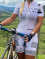 cheap -Men's Women's Short Sleeve Cycling Jersey with Shorts Triathlon Tri Suit White Bike Breathable Quick Dry Sports Mountain Bike MTB Road Bike Cycling Clothing Apparel / Stretchy / Athletic