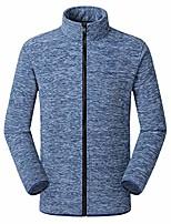 cheap -men's autumn winter casual outdoor zipper fleece stand collar sport coat blue