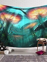 cheap -wall tapestry art decor blanket curtain hanging home bedroom living room decoration underwater mushroom chlorella polyester