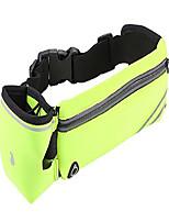 cheap -running belt, adjustbale fitness belt with water bottle, waterproof reflective zipper waist pack for runners, race, marathon, hiking - men and women (yellow)