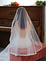 cheap -One-tier Stylish / Lace Wedding Veil Elbow Veils with Solid Tulle