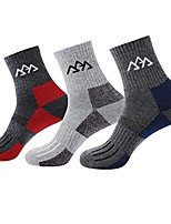 cheap -3 pairs hiking socks breathable hiking crew socks outdoor sports camping climbing skiing trekking running walking padded breathable boot sock uk size 6.5-9/eur size 39-43