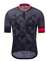 cheap -21Grams Men's Short Sleeve Cycling Jersey Dark Gray Bike Jersey Mountain Bike MTB Road Bike Cycling Breathable Sports Clothing Apparel / Athletic