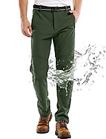 cheap -waterproof pants mens, fleece lined hiking climbing motorcycle ski snow insulated soft shell pants with belt #5088-army green,35