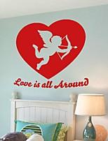 cheap -57*57cm personalized cupid angel wall stickers living room nursery bedroom decor 1 piece vinilos decorativos