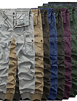 cheap -Men's Hiking Cargo Pants Solid Color Summer Outdoor Breathable Anti-tear Multi-Pocket Cotton Bottoms Black Army Green Burgundy Blue Light Grey Hunting Fishing Climbing 29 30 33 34 36