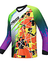 cheap -21Grams Men's Long Sleeve Downhill Jersey Spandex Purple Bike Jersey Top Mountain Bike MTB Road Bike Cycling UV Resistant Quick Dry Sports Clothing Apparel / Athletic