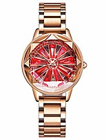 cheap -women quartz watch rotating dial brass case new fashion creative starry sky hollow flower waterproof watch with stainless steel strap