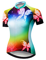 cheap -21Grams Women's Short Sleeve Cycling Jersey Blue Bike Jersey Mountain Bike MTB Road Bike Cycling Breathable Sports Clothing Apparel / Athletic