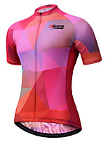 cheap -21Grams Women's Short Sleeve Cycling Jersey Red Bike Jersey Mountain Bike MTB Road Bike Cycling Breathable Sports Clothing Apparel / Athletic