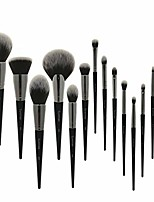 cheap -makeup brush set makeup brush set 15pcs black natural synthetic hair make up brush tools kit professional makeup brushes. (handle color : 15pcs brush set)