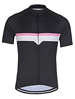 cheap -21Grams Men's Short Sleeve Cycling Jersey Black Patchwork Bike Jersey Mountain Bike MTB Road Bike Cycling Breathable Sports Clothing Apparel / Athletic
