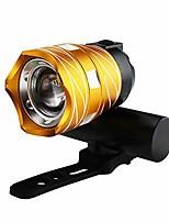 cheap -mountain bike headlights t6 night driving glare light mountain bike usb charging light warning light bicycle accessories (yellow)