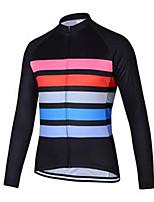 cheap -21Grams Men's Long Sleeve Cycling Jersey Black Stripes Bike Jersey Mountain Bike MTB Road Bike Cycling Breathable Sports Clothing Apparel / Athletic