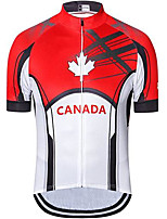 cheap -21Grams Men's Short Sleeve Cycling Jersey Red Bike Jersey Mountain Bike MTB Road Bike Cycling Breathable Quick Dry Sports Clothing Apparel / Athletic