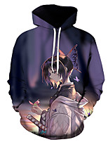 cheap -Inspired by Demon Slayer Kochou Shinobu Cosplay Costume Hoodie Polyester / Cotton Blend 3D Printing Hoodie For Men's / Women's