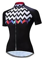 cheap -21Grams Women's Short Sleeve Cycling Jersey Black Bike Jersey Mountain Bike MTB Road Bike Cycling Breathable Sports Clothing Apparel / Athletic