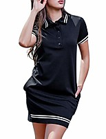 cheap -women's ruched casual sundress midi dresses bodycon dresses sheath dress lace v neck fit & flare midi cocktail dress for women party wedding prom dresses women black