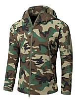 cheap -Men's Hoodie Jacket Hiking Softshell Jacket Hiking Windbreaker Outdoor Lightweight Windproof Breathable Quick Dry Jacket Top Fishing Climbing Camping / Hiking / Caving Jungle camouflage Desert