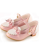 cheap -Girls' Heels Princess Shoes PU Little Kids(4-7ys) Big Kids(7years +) Party & Evening Walking Shoes Almond Black Red Spring