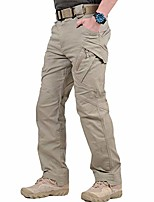 cheap -men's tactical pants outdoor lightweight cargo pants with zip pockets for camping m khaki