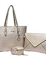 cheap -Women's Bags Bag Set Date Office & Career Bag Sets 2021 Handbags Black Blue Champagne Beige