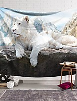 cheap -wall tapestry art decor blanket curtain hanging home bedroom living room decoration polyester white lion