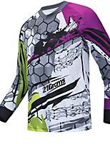 cheap -21Grams Men's Long Sleeve Downhill Jersey Spandex Purple Bike Jersey Top Mountain Bike MTB Road Bike Cycling UV Resistant Quick Dry Sports Clothing Apparel / Athletic
