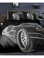 cheap -3d car print 3-piece duvet cover set hotel bedding sets comforter cover with soft lightweight microfiber, include 1 duvet cover, 2 pillowcases for double/queen/king(1 pillowcase for twin/single)