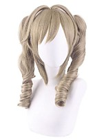 cheap -Cosplay Wig Barbara Curly With 2 Ponytails With Bangs Wig Medium Length Brown Synthetic Hair 14 inch Women's Anime Cosplay Exquisite Brown