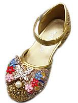 cheap -Girls' Heels Princess Shoes PU Little Kids(4-7ys) Party & Evening Walking Shoes Pink Gold Silver Spring Summer