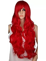 cheap -28 inch long curly cosplay wig costume party red pink sliver gray blonde black 70 cm high temperature synthetic hair wigs