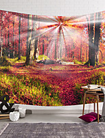cheap -wall tapestry art decor blanket curtain hanging home bedroom living room decoration red big tree red grass sun shining polyester