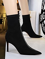cheap -Women's Boots Stiletto Heel Pointed Toe Daily PU Synthetics Black