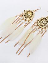 cheap -Women's Drop Earrings Hoop Earrings Earrings Drop Elegant Fashion Punk Trendy Boho Resin Feather Earrings Jewelry White For Street Sport Date Beach Festival 1 Pair / Mismatch Earrings