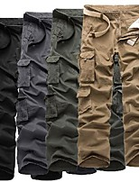 cheap -men's cotton army hiking cargo pants casual trousers with pockets(30,black)