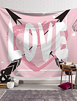 cheap -Valentine's Day Wall Tapestry Art Decor Blanket Curtain Hanging Home Bedroom Living Room Decoration Heart Arrow Graffiti